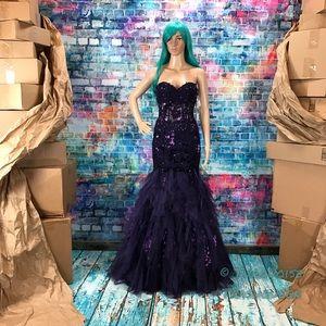 Jovani Dresses - JOVANI Purple Glitter Corset  Prom Gown! #172008